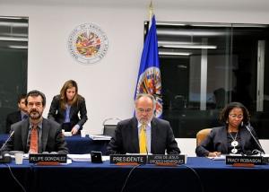 Comisionados durante el periodo de audiencias de octubre 2012