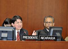 Embajador de Nicaragua ante la OEA, acutal Presidente del Consejo Permanente