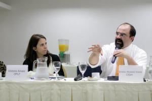 Victoria Amato y Emilio Alvarez Icaza en Montevideo, Uruguay