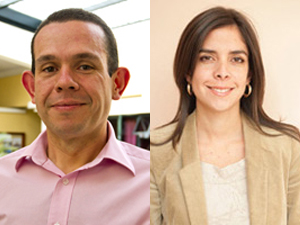 Juan Pablo Albán y Daniela Salazar