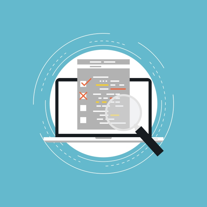Usability evaluation and testing flat vector illustration